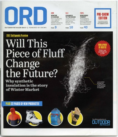 Outdoor Retailer Daily, Will This Piece of Fluff Change, 2017