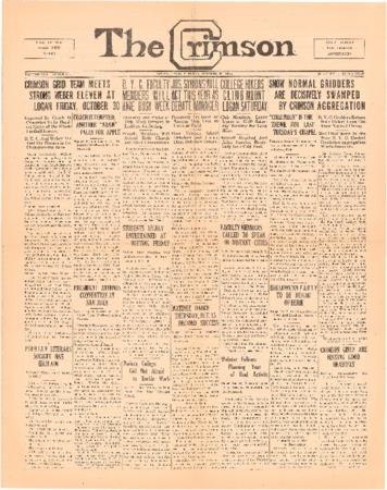 The Crimson, October 20, 1925