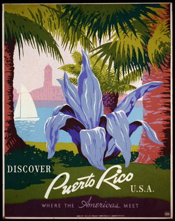 Discover Puerto Rico Tourism Poster