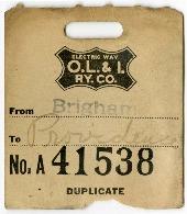 O.L.I Baggage Claim Ticket No. A41538, 1918<br />