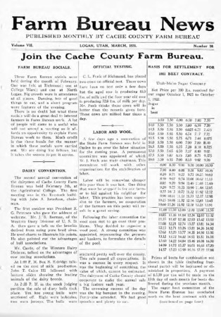 Farm Bureau News, Cache County, Volume VII, Number 10, March 1921