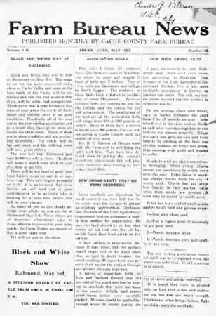 Farm Bureau News, Cache County, Volume VIII, Number 12, May 1923