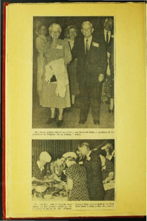 Newspaper Photographs from Ada Morrell's Scrapbook about BYC Reunion
