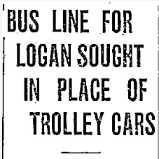 """""""Bus Line for Logan Sought in Place of Trolley Cars,"""" Ogden Standard-Examiner, 1926<br />"""
