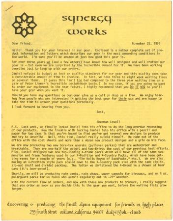 Synergy Works, November 25, 1976