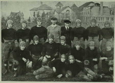 BYC Football Team in the 1921 Crimson Annual