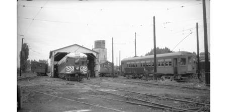 U.I.C. Engines #500 and #503 at the Preston, Idaho Station Train Yard, 1945<br />