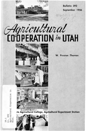 Agricultural Cooperation in Utah by W. Preston Thomas