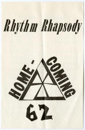 1962 Rhythm Rhapsody program