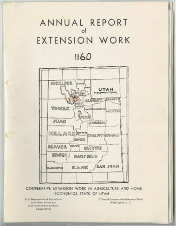 Annual Report of Extension Work Agents, Davis County, 1960