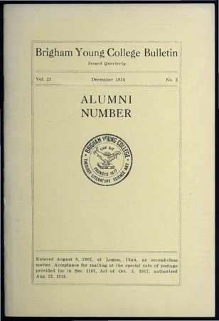 Brigham Young College Bulletin, December 1924