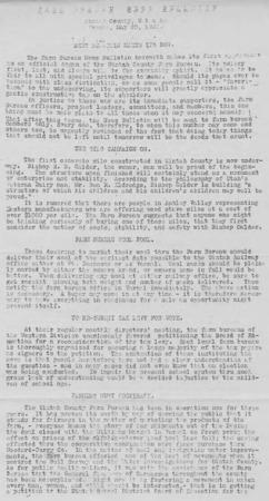 Farm Bureau News Bulletin, Uintah County, 1919-1920