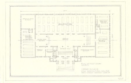 Plan of First Story of the USAC Library Building<br />