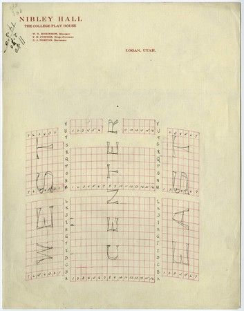 Plans for remodeling of Nibley Hall (auditorium)
