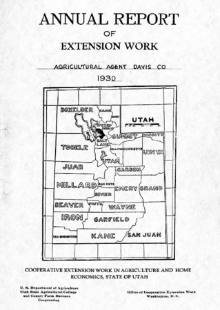 Annual Report of Agricultural Extension Work, Agricultural Agent, Davis County, 1930