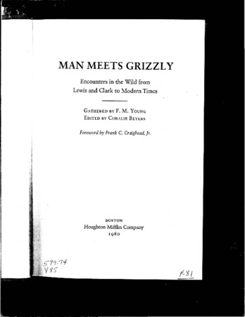 """Utah's Old Ephraim,"" from Man Meets Grizzly"