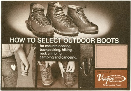 Vasque, How to select Outdoor Boots, undated