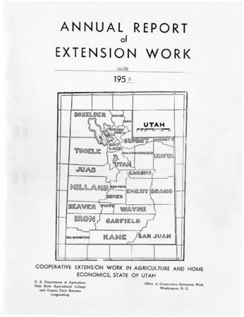 Annual Report of Extension Work Agents, Cache County, 1950