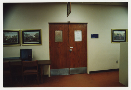 Door to Special Collections & Archives Reading Room, Merrill Library
