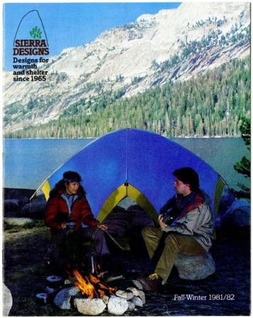 Sierra Designs, Fall/Winter 1981-1982