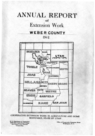Annual Report of Extension Work, Agricultural Agent, Weber County, 1941