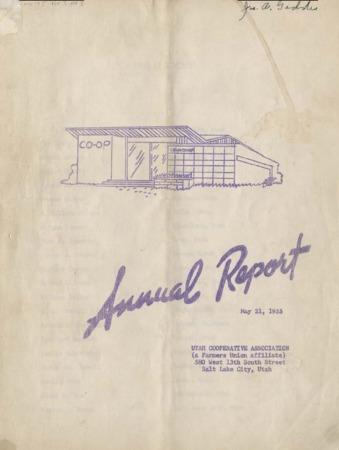 Utah Cooperative Association annual report, May 21, 1955