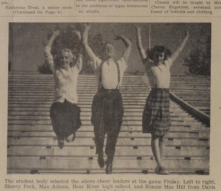 1945 cheerleaders in Student Life