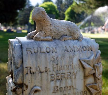 Logan cemetery headstone, 8