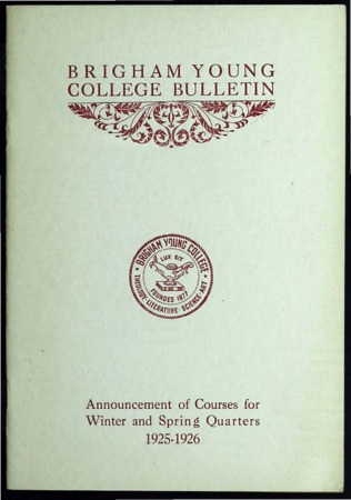 Brigham Young College Bulletin, Winter and Spring Quarters 1925-1926