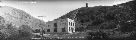 Blacksmith Fork Canyon Utah Power and Light Plant, 1913<br />
