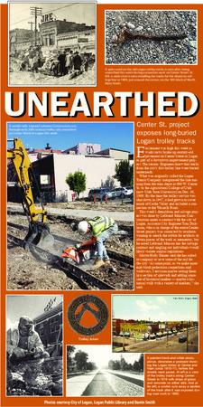 """""""Unearthed,"""" The Herald Journal, 2019<br />"""