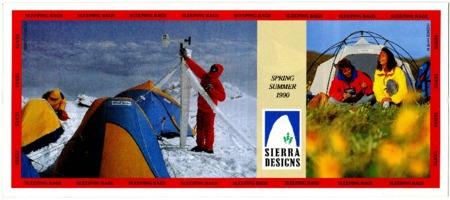 Sierra Designs, Spring/Summer 1990