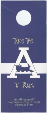 """Take the A Train"" door hanger"