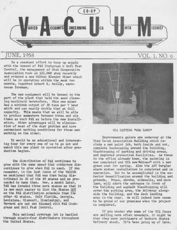 Varied Accounts Concerning Uca Uinta Mischief (VACUUM), Volume 1, Number 6, June 1958