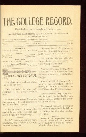 The College Record, May 5, 1893