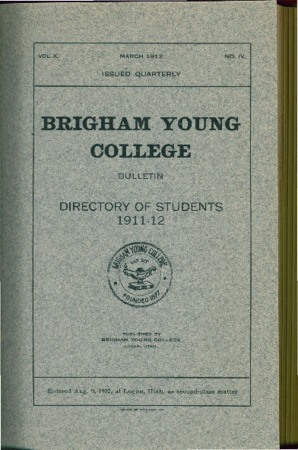 Brigham Young College Directory of Students 1911-12