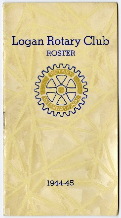 Logan Rotary Club Roster, 1944-45