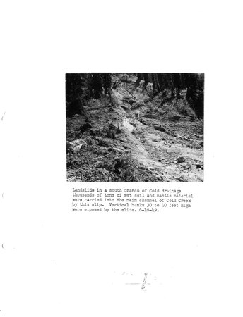 Land slide from Annual Report of Extension Service