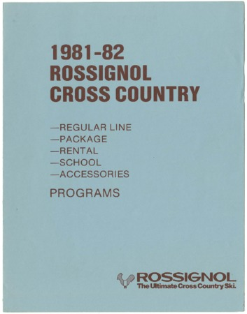 Rossignol, Cross Country, 1981-1982