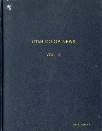 Utah Cooperative News, January 15, 1938, Vol. 2, No.1