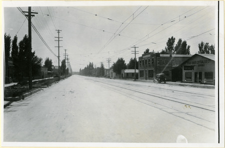 Logan Main Street & 100 South, 1921<br />