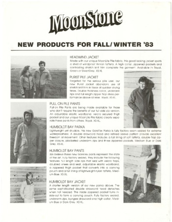 Moonstone, Fall/Winter 1983