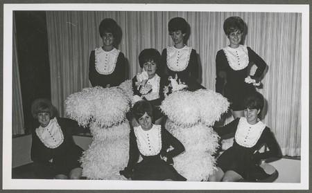 Cheerleading group photograph