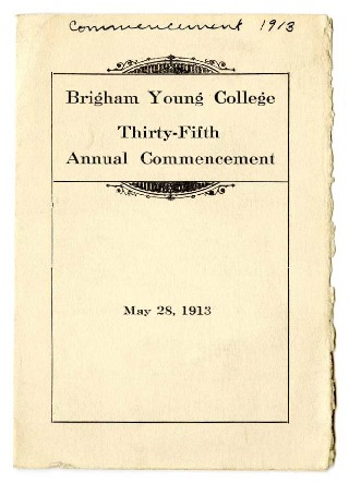Programs for Thirty-fifth Commencement of Brigham Young College, May 28, 1913