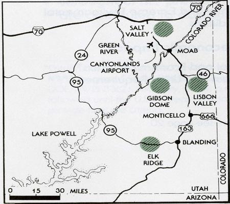 Paradox Basin Testing Locations