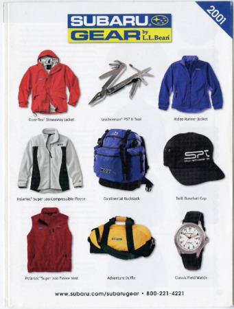 L.L. Bean, Subaru Gear 2001