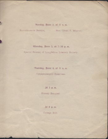 1895 UAC Commencement Invitation, Page 2