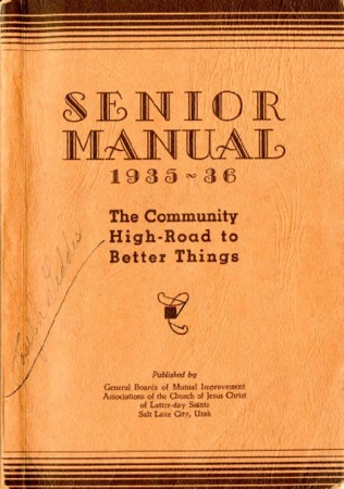 Senior Manual, 1935-1936: Community High-Road to Better Things