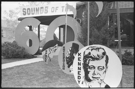 Sorority house decorated for homecoming, c. 1965