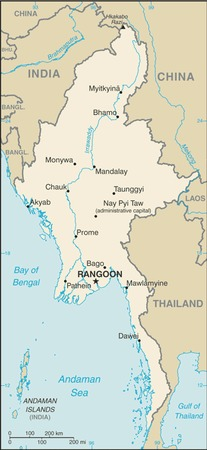 Map of Burma/Myanmar